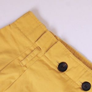 BERSHKA Yellow bucket skirt